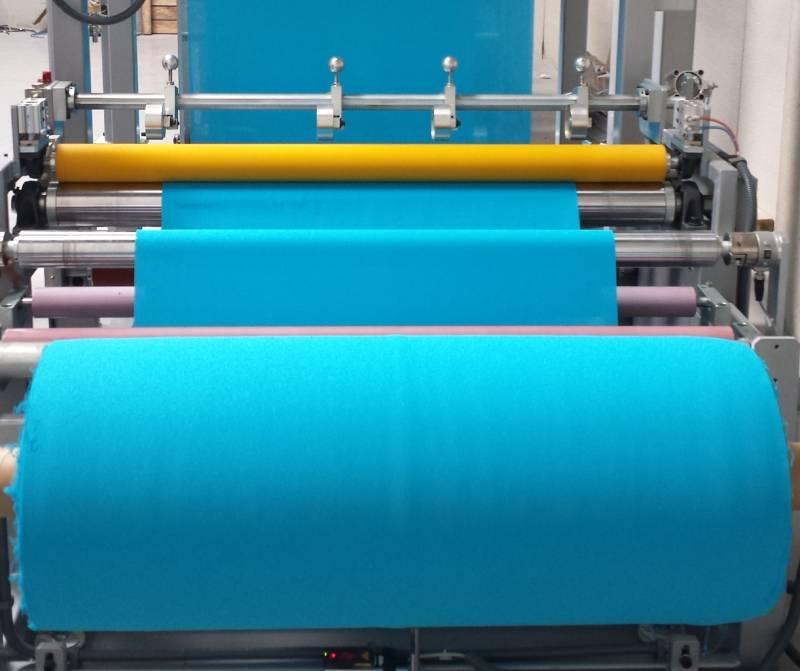 Línia tèxtil aplicació adhesivat per a tires-tape-1